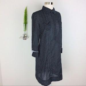 NWOT Tahari Polka Dot Collared Dress Size (4)